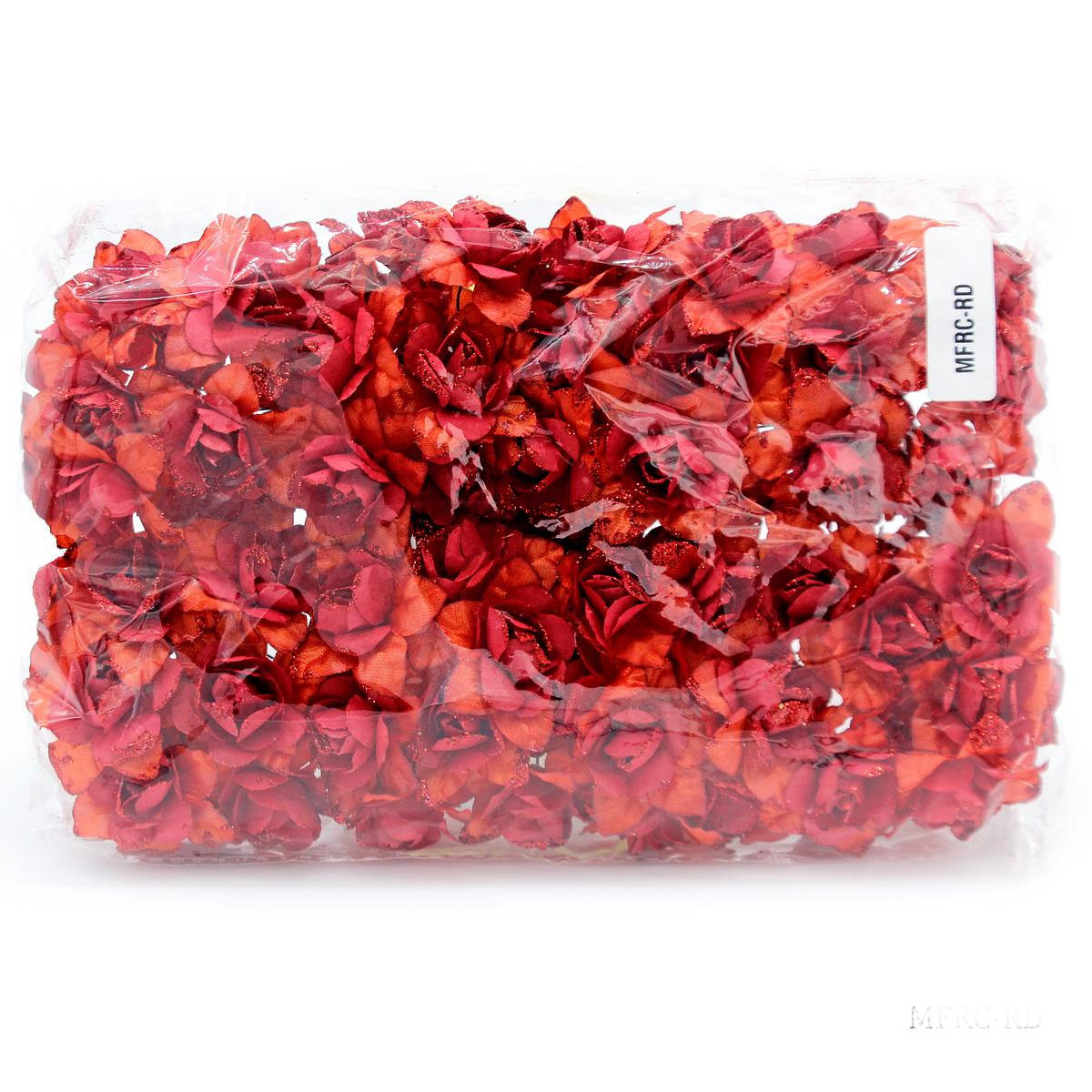 Cloth Flowres Rose 96Pcs Red MFRC-RD