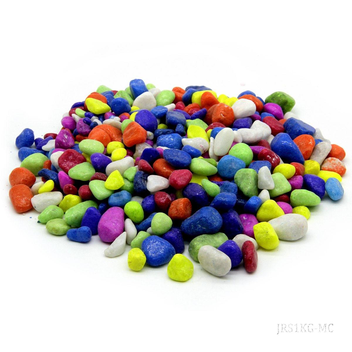 Jags resin Stone Medium 1kg Multi Colour JRS1KG-MC