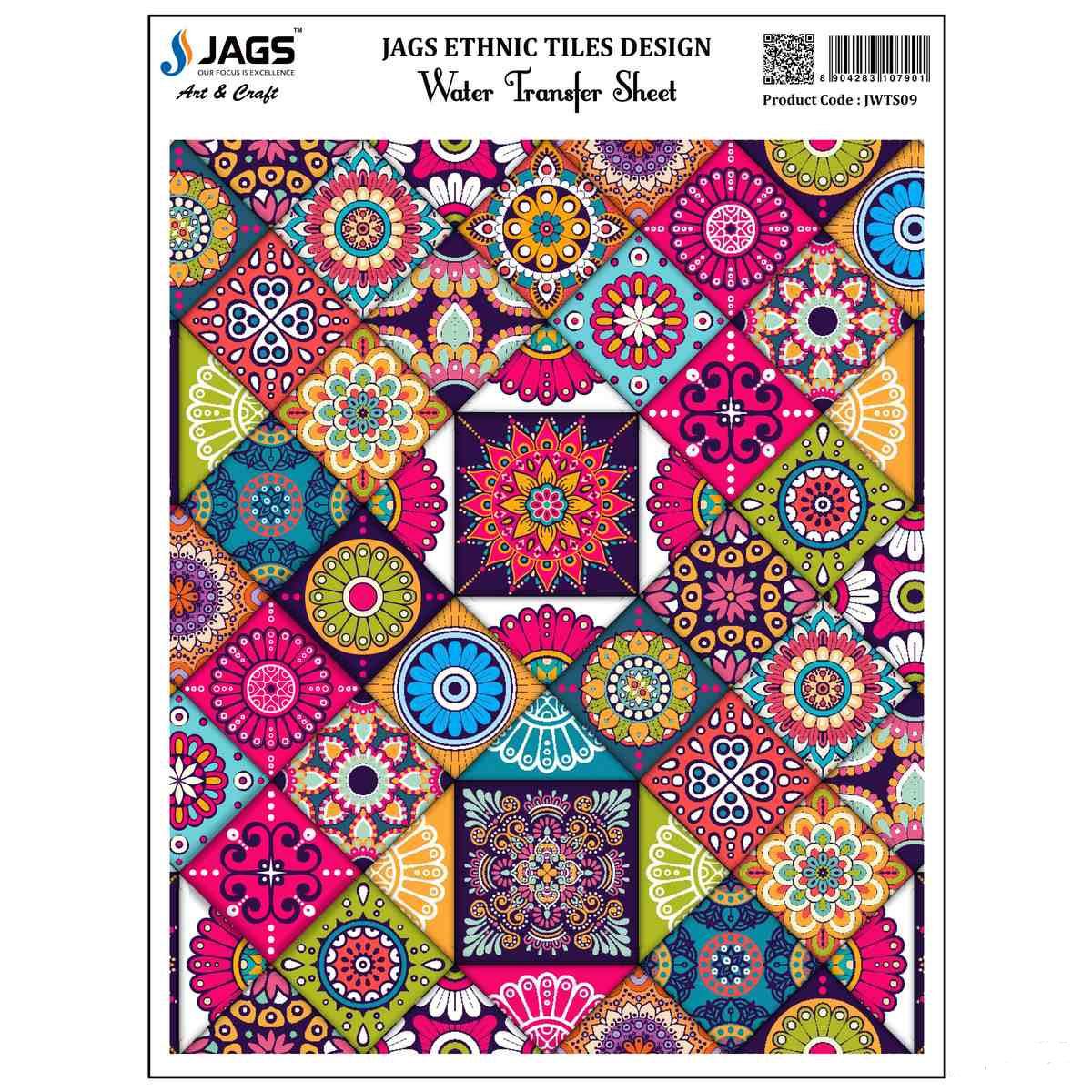 Jags Water Transfer Sheet Ethnic Tiles Desi JWTS09