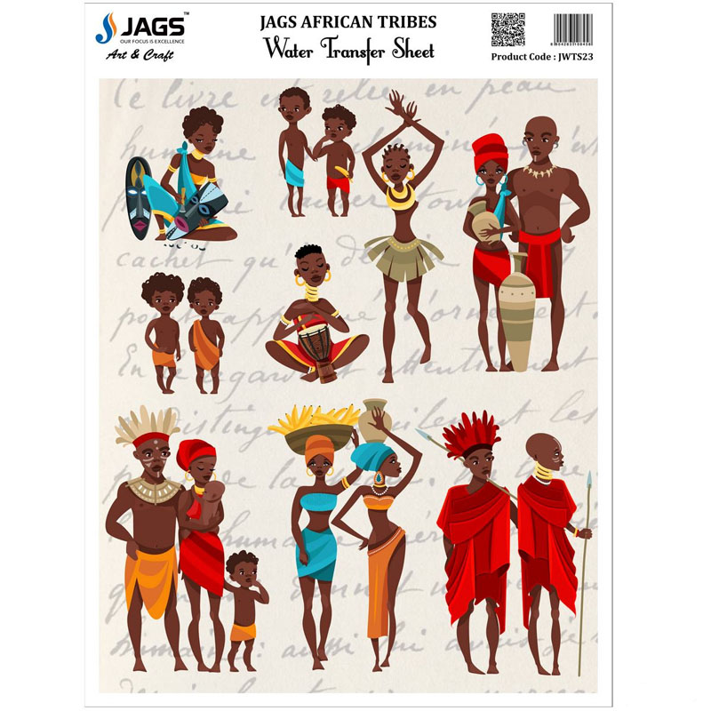 Jags Water Transfer Sheet African Tribes JWTS23