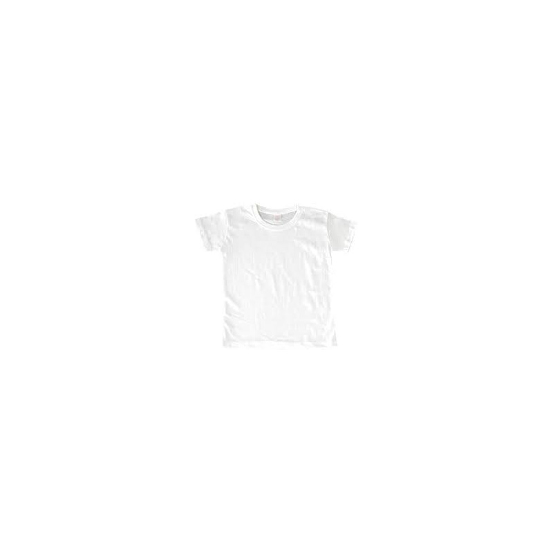 Polyster Cotton Tshirt (L) for Fabric Painitng White