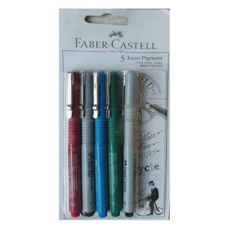 Ecco Pigment Fibre Tip Pen (0.1/0.1/0.1/0.1/0.6) Set C