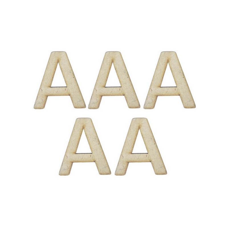 MDF Alphabet Letter A - 4Inch