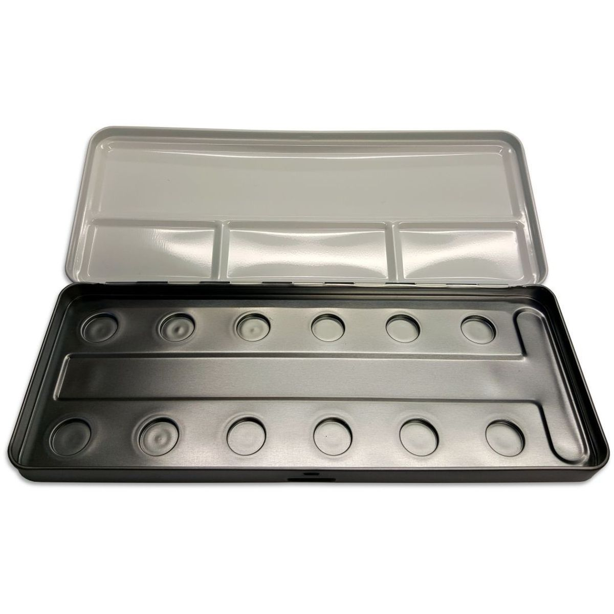 FineTec Empty Metal Box with Palette Area for 12 Mica Based