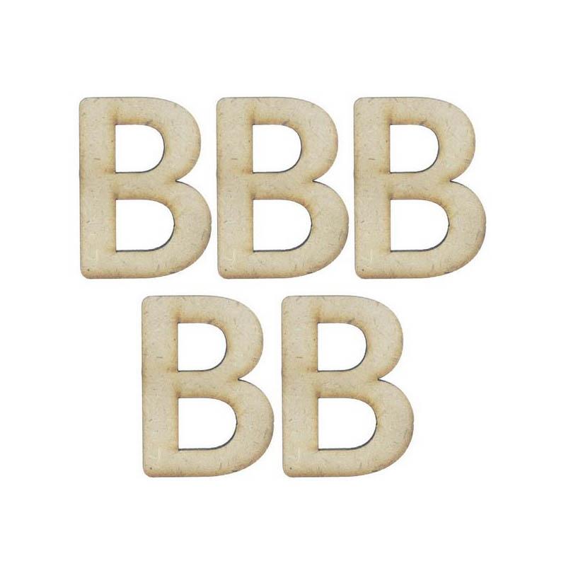 MDF Alphabet Letter B - 4Inch