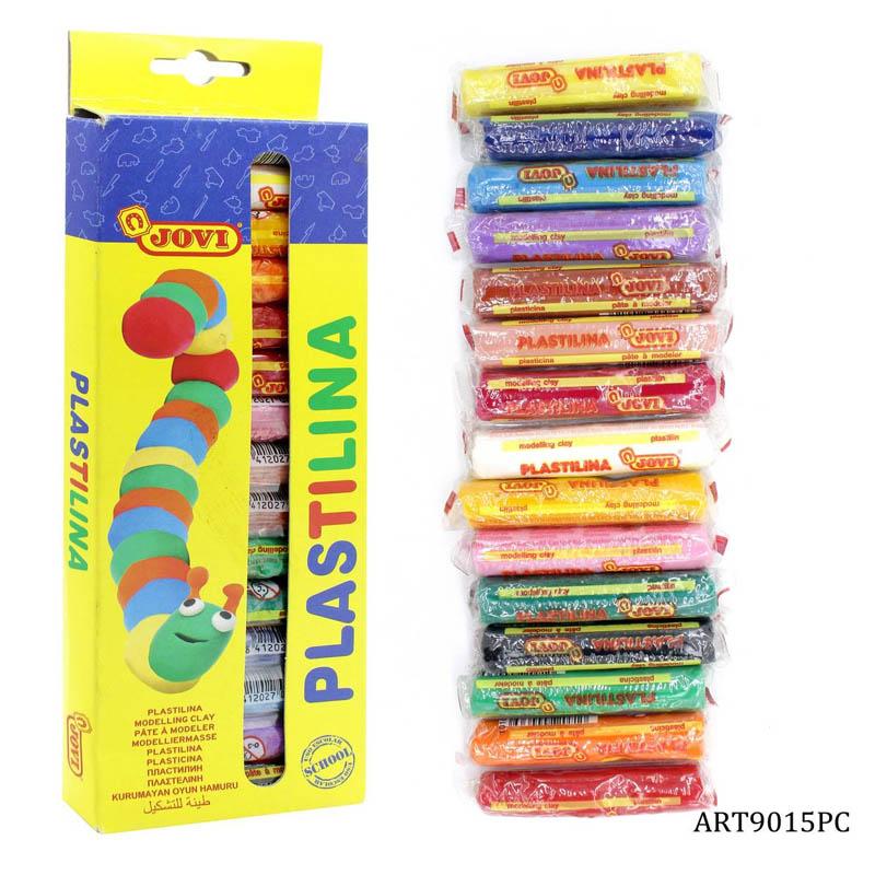 Jovi Plastilina Vegetable Based Non Hardening Modelling Clay Assorted 15 Color Sticks of 15 gm Each
