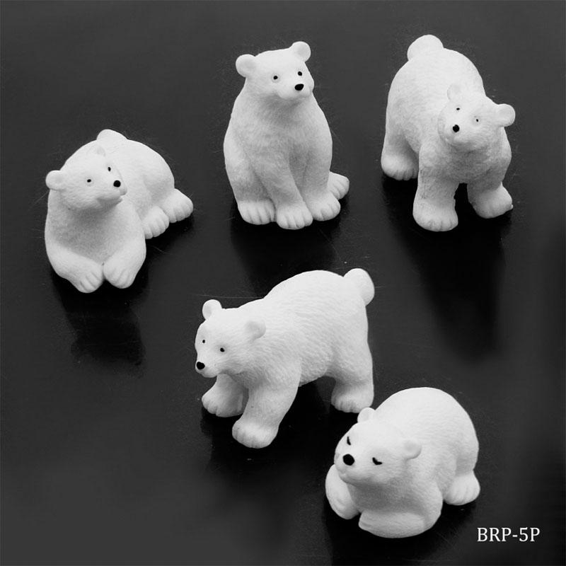 Model Accessories Bear White Model 5Pcs BRP-5P