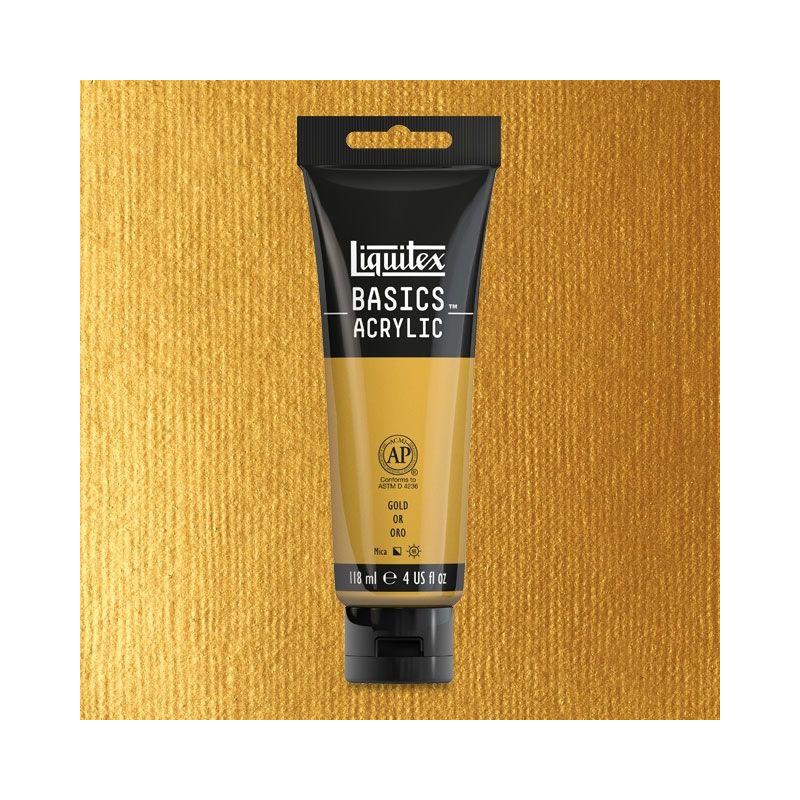 Liquitex Basics Acrylic Color, Gold, 118 ml.