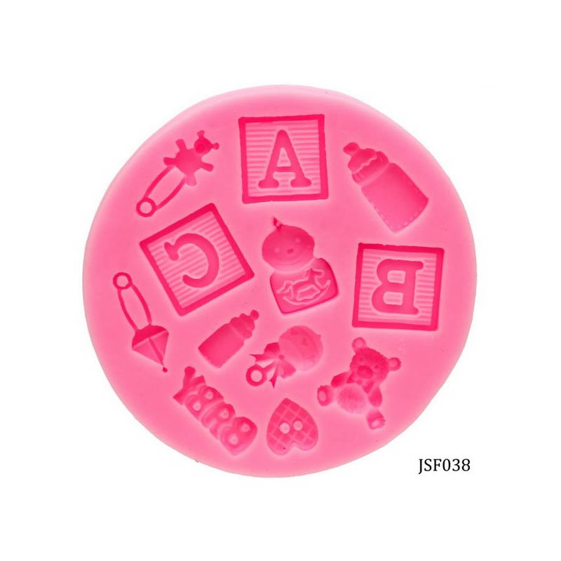 Silicone Mould 12 Design ABC Baby Shower