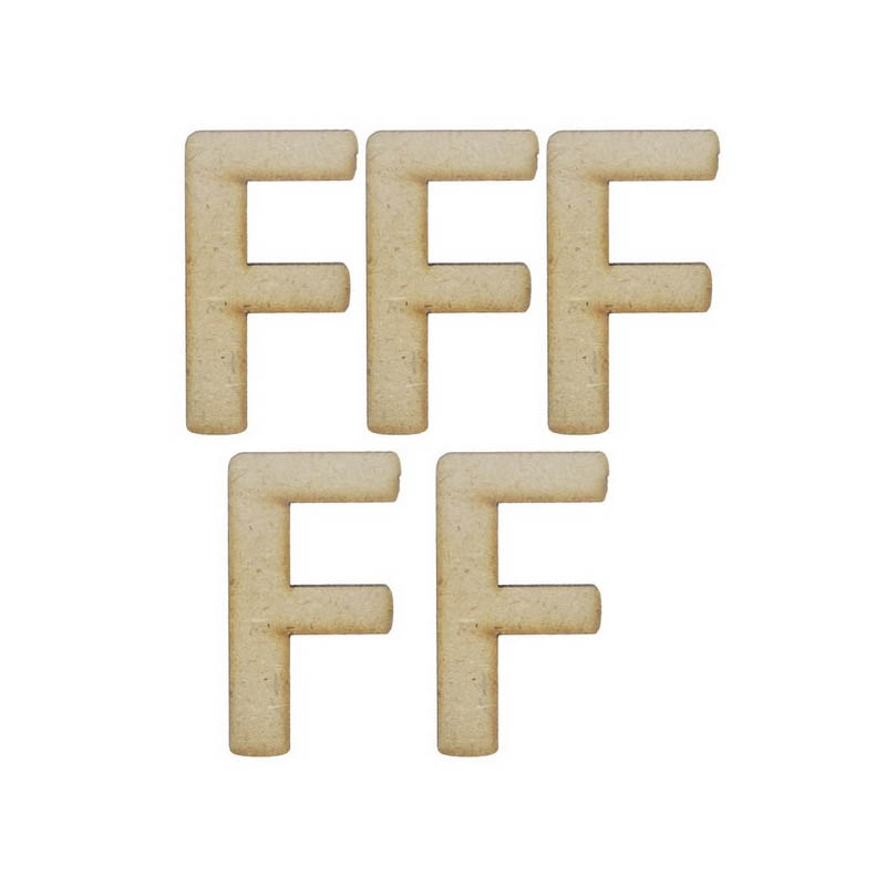MDF Alphabet Letter F - 2Inch