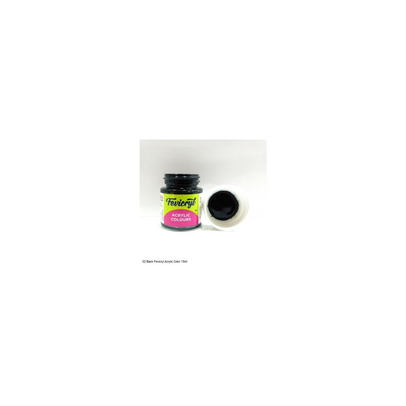 02 Fevicryl Acrylic Colours black