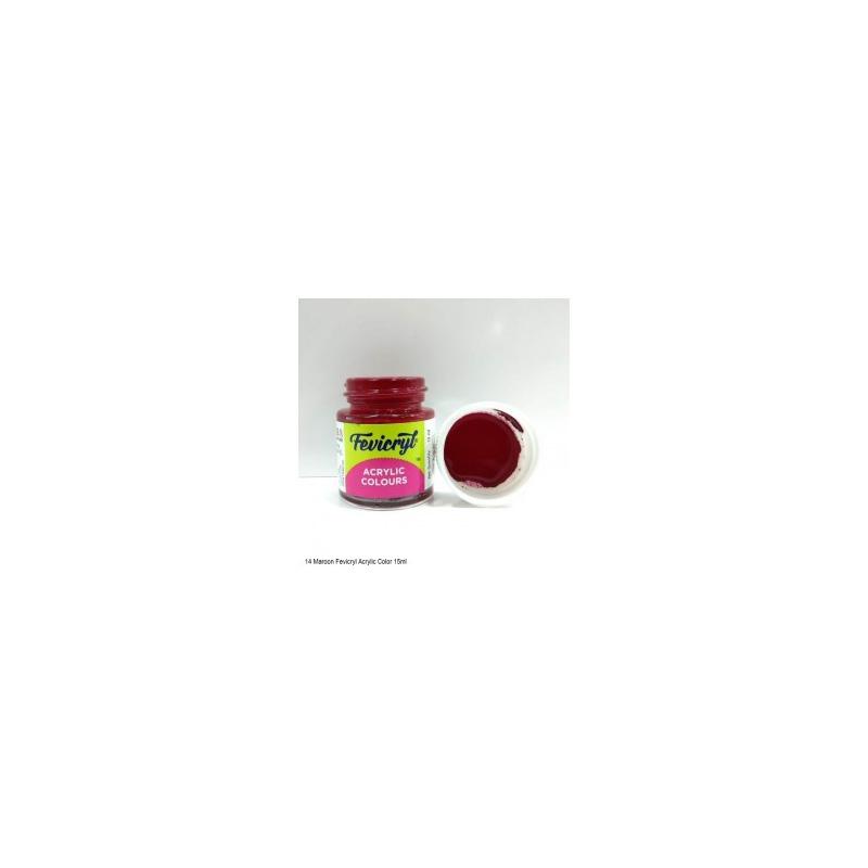 14 Fevicryl Acrylic Colours maroon