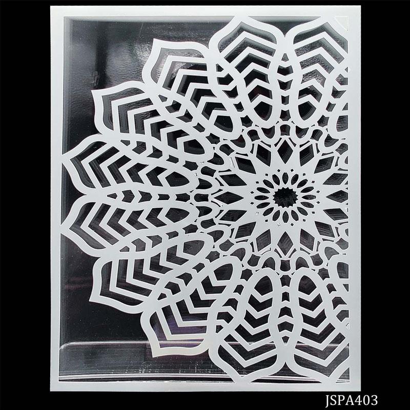 jags Stencil Plastic 180D Flower A4 JSPA403