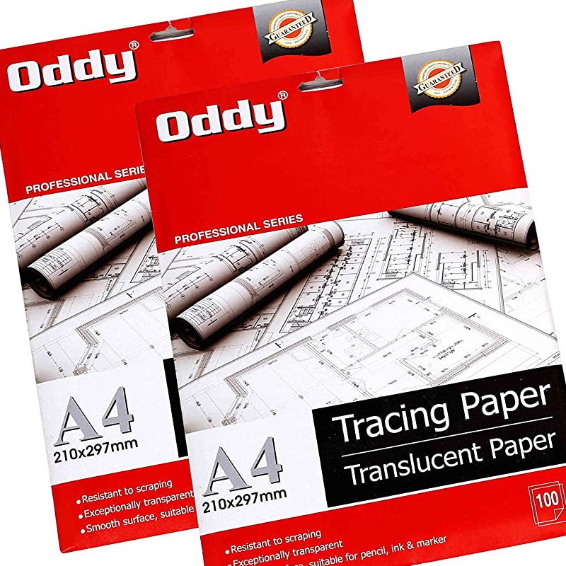 Oddy 95 GSM Tracing Butter Paper - 100 Sheets Pack