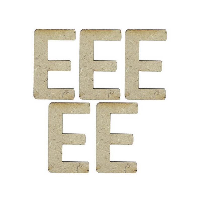 MDF Alphabet Letter E - 4Inch