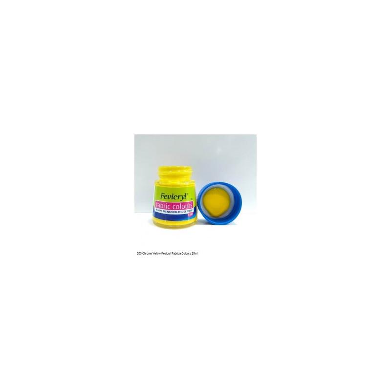 203 Fevicryl Fabric Colour chrome yellow
