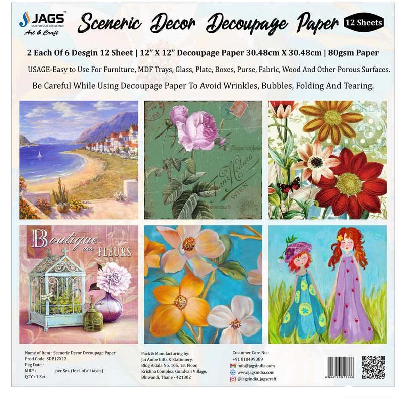 Sceneric Decor Decoupage Paper SDP12X12
