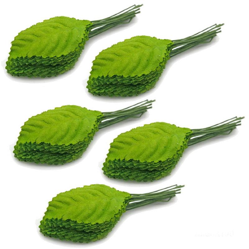 Artificial Leaf Green 3 X4.55CM ALG6X100