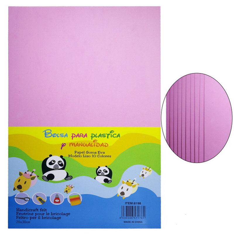 A4 Foam Sheet Without Sticker Baby Pink 8198BPK