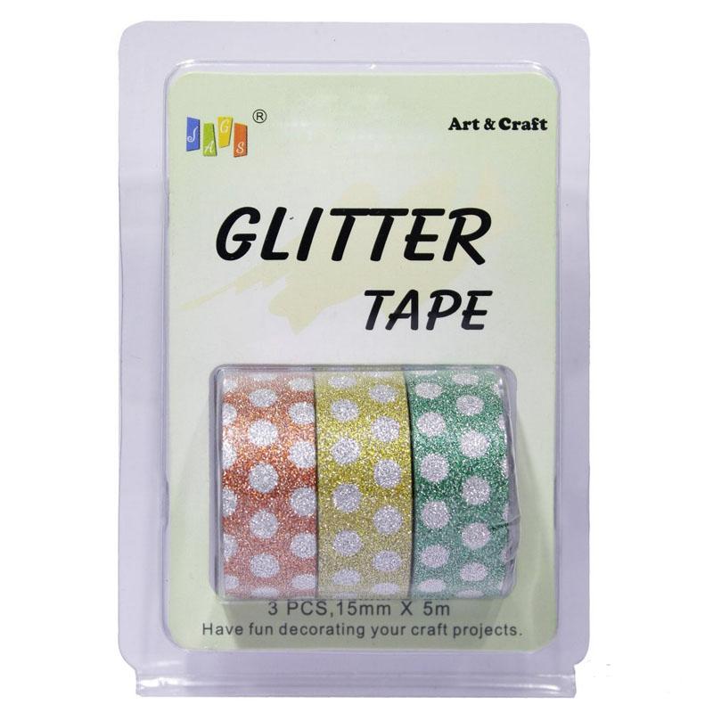 Craft Tape Glitter 3pcs 3PGT-L