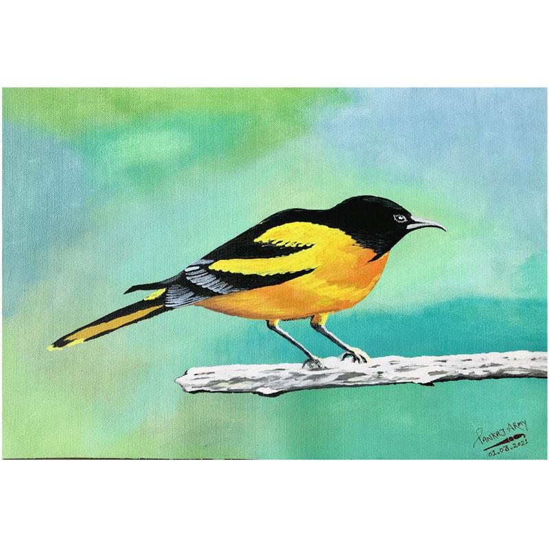 Bird on Branch by Pankaj Chandana