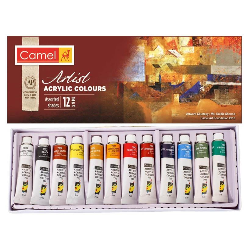 Camlin Kokuyo Acrylic Color Box - 9ml Tubes, 12 Shades