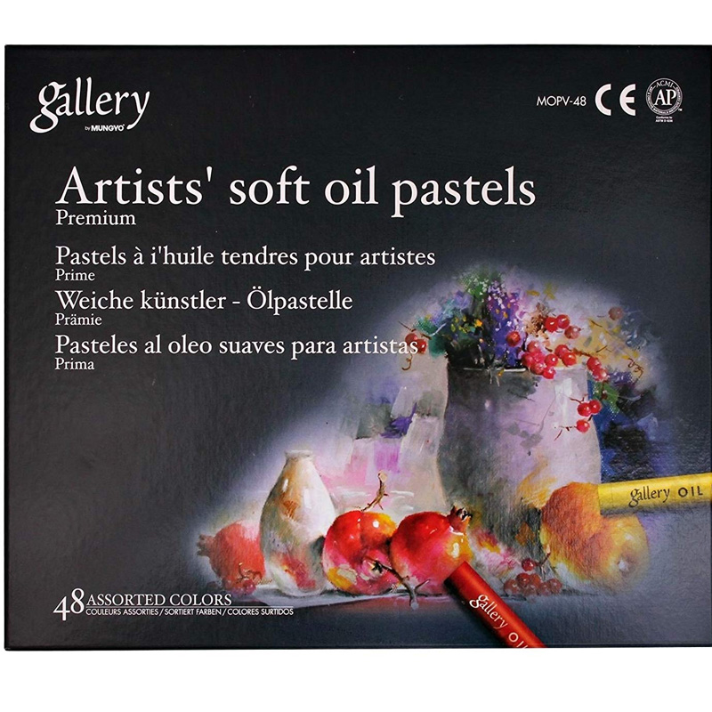 Mungyo [Mungyo Gallery] Non Toxic Soft Oil Pastels Set of 48 Assorted Colors