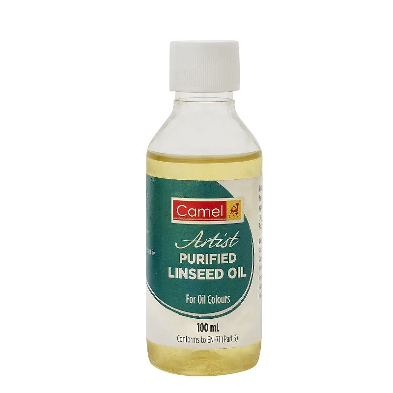 Camel Artist Purified Linseed Oil for Oil Color, 100ml (Yellow)