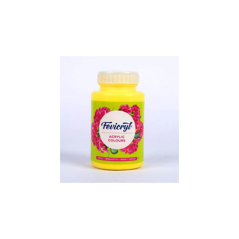 Fevicryl High-Quality Acrylic Painting Color (Lemon Yellow, 500ml)