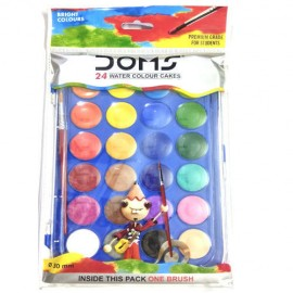 Doms Water Colour Cakes (Pack of 24 Shades)