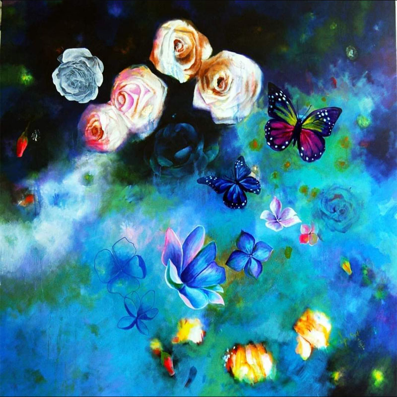 Flowers of Happiness 2 by Vijay Koul