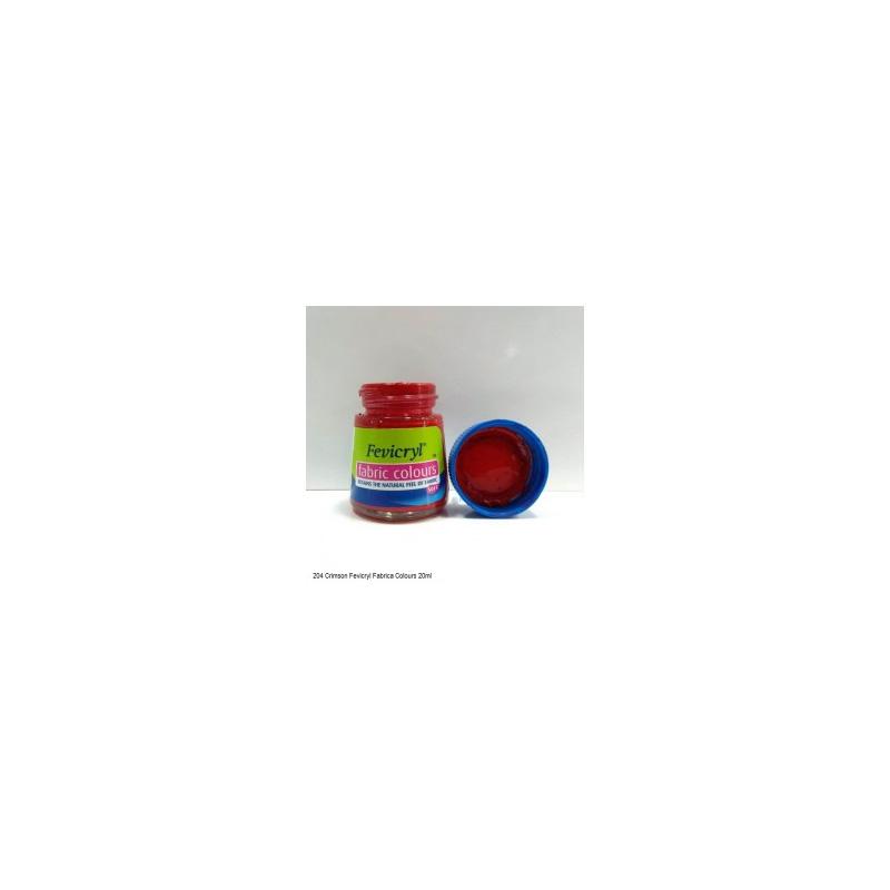 204 Fevicryl Fabric Colour chrimson
