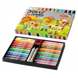 Doms Wax Jumbo Wax Crayons 24 Shades