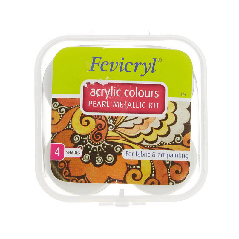 Fevicryl Acrylic Colors Pearl Metallic Kit