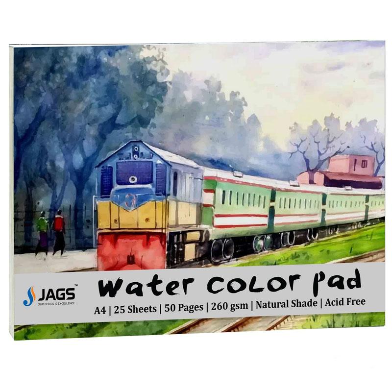 Jags Water Colour Pad A3 260gsm 25Sheets JWCPA300