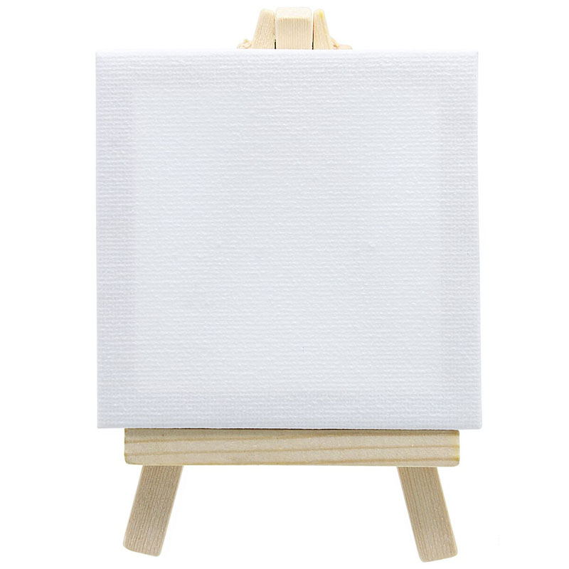 Canvasboard With Stand White Mini Small T-8X8