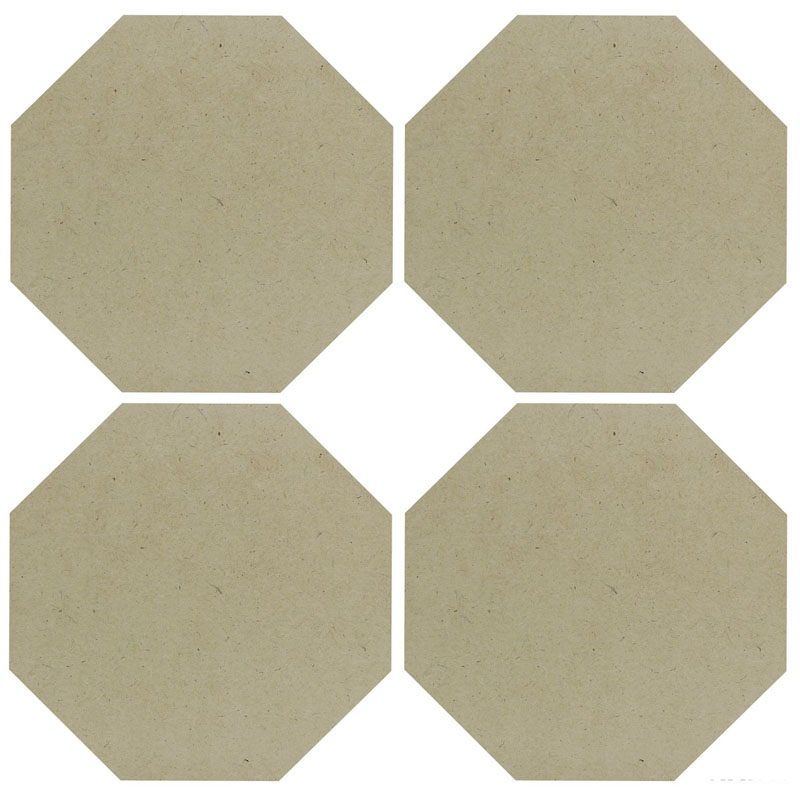 MDF Plate Hexagon 8X8 4MM 4 Pics MPH800