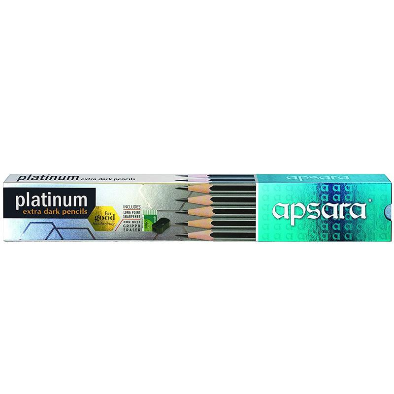 Apsara Platinum Extra Dark Pencils - Pack of 10