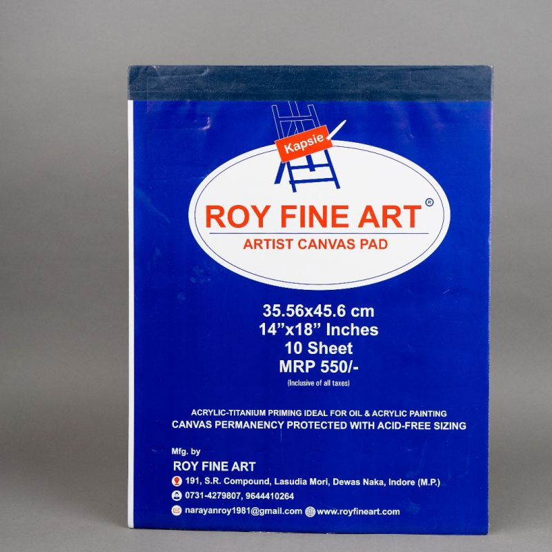 Roy Fine Art Canvas Pad 14by18 Inches