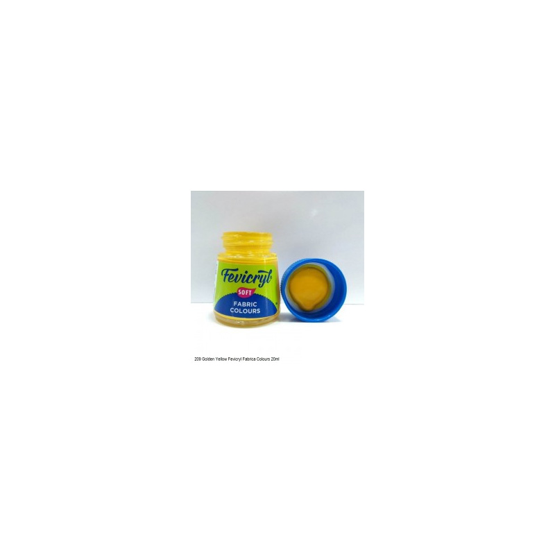 209 Fevicryl Fabric Colour golden yellow