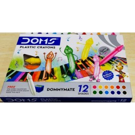 Doms Groove Plastic Crayons (Set of 12 Shades)