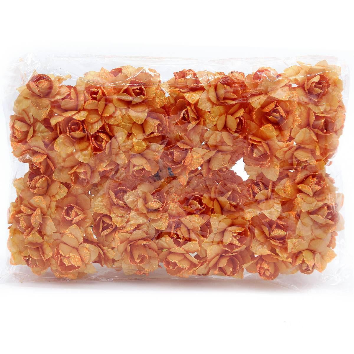 Cloth Flowres Rose 96Pcs Orange MFRC-OE
