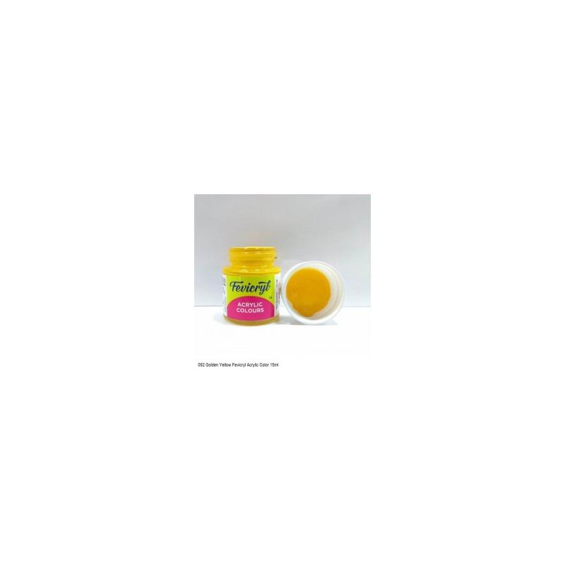 09 Fevicryl Acrylic Colours golden yellow