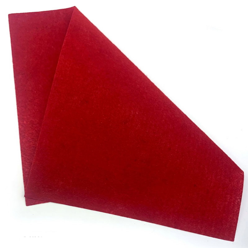 A3 Nonwoven Felt Sheet Red 050 A3RD050