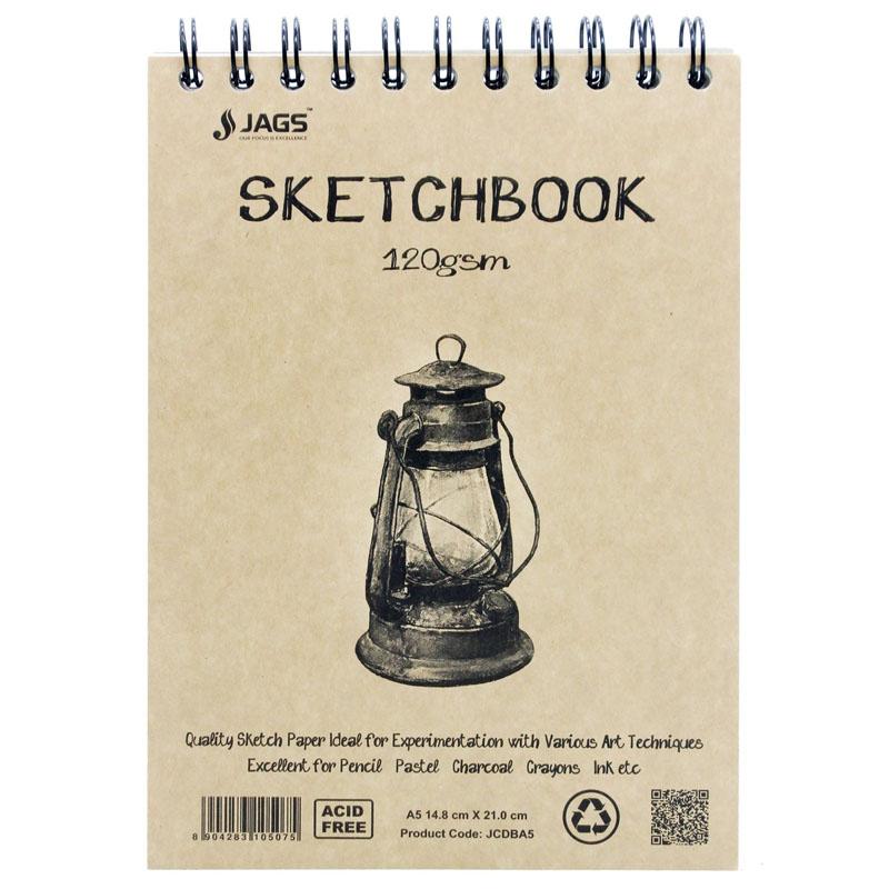 Jags Craft Sketch Book A5 100Pgs 120Gsm JCDBA5