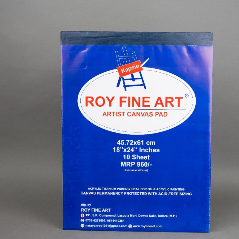 Roy Fine Art Canvas Pad 18by24 Inches