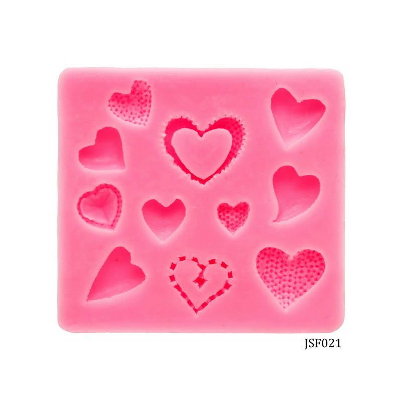 Silicone Mould 11 Design Heart JSF021