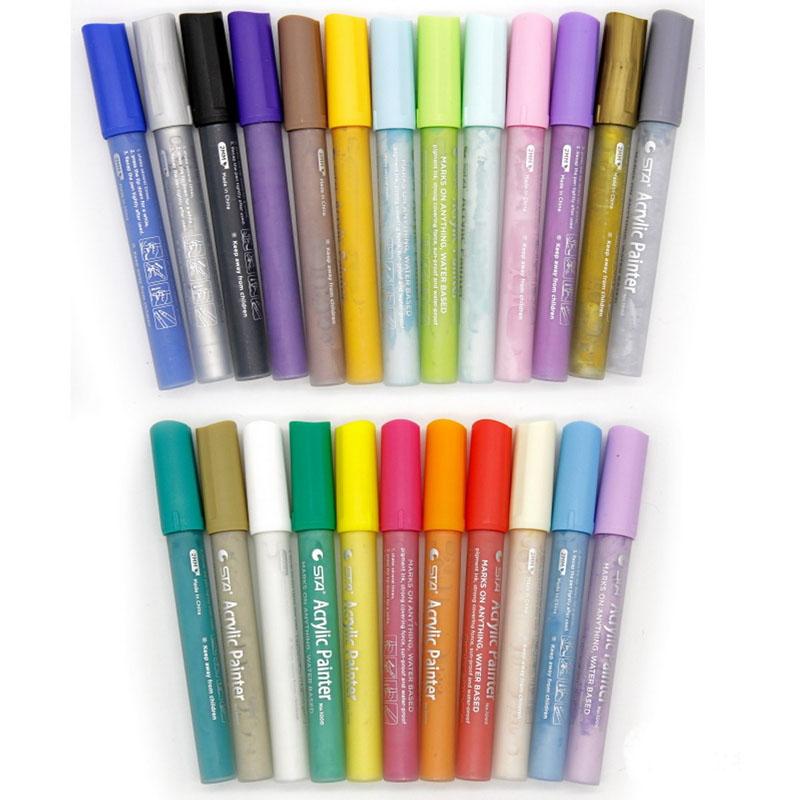 Acrylic Painter Marker 24 Colour Set 1000-24