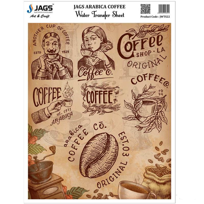Jags Water Transfer Sheet Arabica Coffee JWTS22