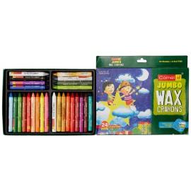 Camlin Kokuyo Colours Wax Crayons Jambo 24 Shades + 2 Glitter Crayons Free